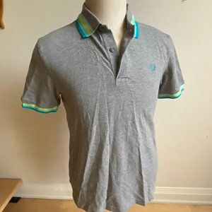 Fred Perry Top polo shirt Gray Medium short sleeve